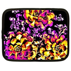 Purple Yellow Flower Plant Netbook Case (xxl)  by Costasonlineshop
