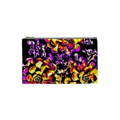 Purple Yellow Flower Plant Cosmetic Bag (small)  by Costasonlineshop
