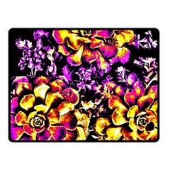 Purple Yellow Flower Plant Fleece Blanket (small) by Costasonlineshop