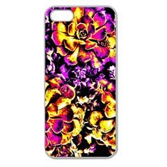 Purple Yellow Flower Plant Apple Seamless Iphone 5 Case (clear) by Costasonlineshop