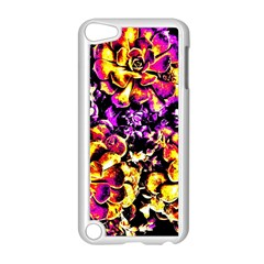 Purple Yellow Flower Plant Apple Ipod Touch 5 Case (white) by Costasonlineshop