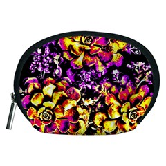 Purple Yellow Flower Plant Accessory Pouches (medium)  by Costasonlineshop