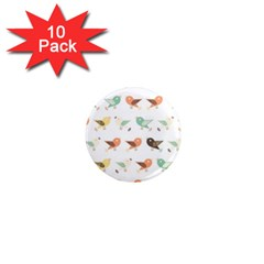 Assorted Birds Pattern 1  Mini Magnet (10 Pack)  by linceazul