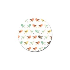 Assorted Birds Pattern Golf Ball Marker (4 Pack) by linceazul