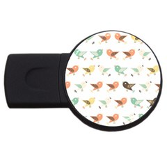 Assorted Birds Pattern Usb Flash Drive Round (2 Gb) by linceazul