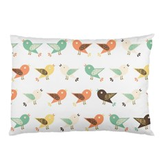 Assorted Birds Pattern Pillow Case (two Sides) by linceazul
