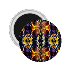 Mystic Yellow Blue Ornament Pattern 2 25  Magnets by Costasonlineshop