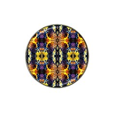 Mystic Yellow Blue Ornament Pattern Hat Clip Ball Marker