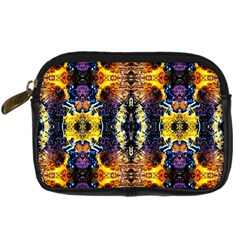 Mystic Yellow Blue Ornament Pattern Digital Camera Cases by Costasonlineshop