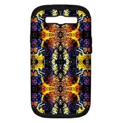 Mystic Yellow Blue Ornament Pattern Samsung Galaxy S Iii Hardshell Case (pc+silicone) by Costasonlineshop
