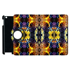 Mystic Yellow Blue Ornament Pattern Apple Ipad 3/4 Flip 360 Case by Costasonlineshop
