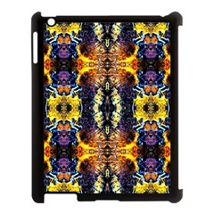 Mystic Yellow Blue Ornament Pattern Apple Ipad 3/4 Case (black) by Costasonlineshop