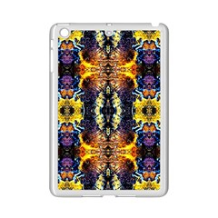 Mystic Yellow Blue Ornament Pattern Ipad Mini 2 Enamel Coated Cases by Costasonlineshop