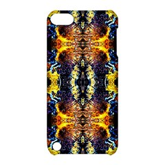 Mystic Yellow Blue Ornament Pattern Apple Ipod Touch 5 Hardshell Case With Stand by Costasonlineshop