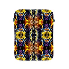 Mystic Yellow Blue Ornament Pattern Apple Ipad 2/3/4 Protective Soft Cases by Costasonlineshop