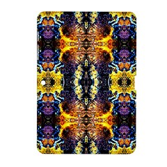 Mystic Yellow Blue Ornament Pattern Samsung Galaxy Tab 2 (10 1 ) P5100 Hardshell Case  by Costasonlineshop