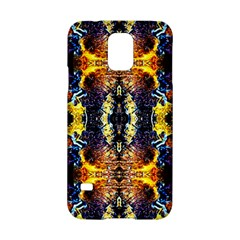 Mystic Yellow Blue Ornament Pattern Samsung Galaxy S5 Hardshell Case  by Costasonlineshop