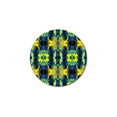 Mystic Yellow Green Ornament Pattern Golf Ball Marker (4 Pack) by Costasonlineshop