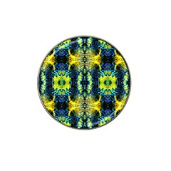 Mystic Yellow Green Ornament Pattern Hat Clip Ball Marker by Costasonlineshop