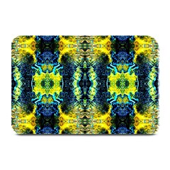 Mystic Yellow Green Ornament Pattern Plate Mats by Costasonlineshop