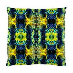 Mystic Yellow Green Ornament Pattern Standard Cushion Case (two Sides) by Costasonlineshop