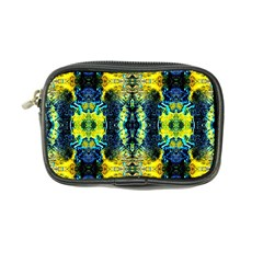Mystic Yellow Green Ornament Pattern Coin Purse by Costasonlineshop