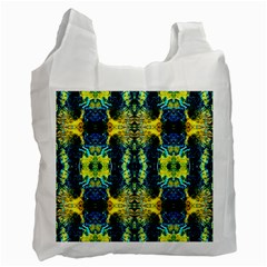 Mystic Yellow Green Ornament Pattern Recycle Bag (one Side) by Costasonlineshop