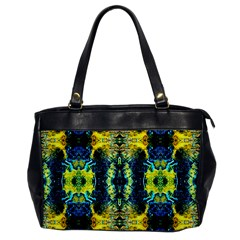Mystic Yellow Green Ornament Pattern Office Handbags by Costasonlineshop