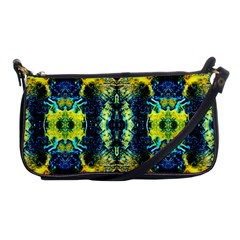 Mystic Yellow Green Ornament Pattern Shoulder Clutch Bags by Costasonlineshop