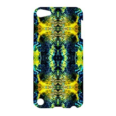 Mystic Yellow Green Ornament Pattern Apple Ipod Touch 5 Hardshell Case by Costasonlineshop