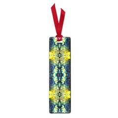 Mystic Yellow Green Ornament Pattern Small Book Marks by Costasonlineshop