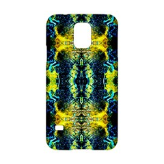 Mystic Yellow Green Ornament Pattern Samsung Galaxy S5 Hardshell Case  by Costasonlineshop