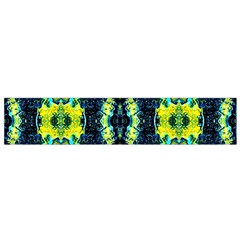 Mystic Yellow Green Ornament Pattern Flano Scarf (small) by Costasonlineshop
