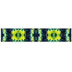 Mystic Yellow Green Ornament Pattern Flano Scarf (large) by Costasonlineshop
