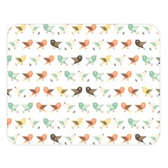Assorted Birds Pattern Double Sided Flano Blanket (large)  by linceazul