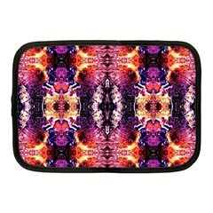 Mystic Red Blue Ornament Pattern Netbook Case (medium)  by Costasonlineshop
