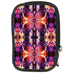 Mystic Red Blue Ornament Pattern Compact Camera Cases by Costasonlineshop