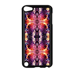 Mystic Red Blue Ornament Pattern Apple Ipod Touch 5 Case (black) by Costasonlineshop