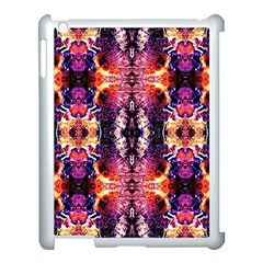 Mystic Red Blue Ornament Pattern Apple Ipad 3/4 Case (white) by Costasonlineshop