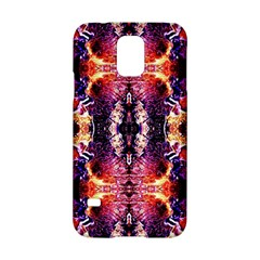 Mystic Red Blue Ornament Pattern Samsung Galaxy S5 Hardshell Case  by Costasonlineshop