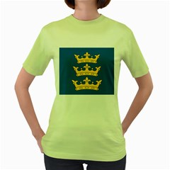 Banner Of Lordship Of Ireland (1177 1542) Women s Green T Shirt by abbeyz71