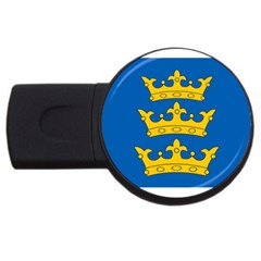 Banner Of Lordship Of Ireland (1177 1542) Usb Flash Drive Round (2 Gb) by abbeyz71