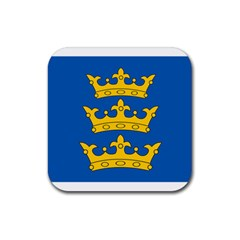 Banner Of Lordship Of Ireland (1177 1542) Rubber Coaster (square)  by abbeyz71