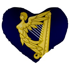 Royal Standard Of Ireland (1542 1801) Large 19  Premium Heart Shape Cushions by abbeyz71