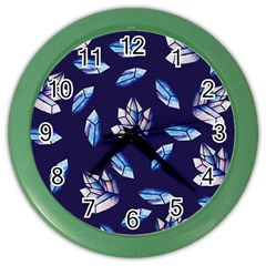 Mystic Crystals Witchy Vibes  Color Wall Clocks by BubbSnugg