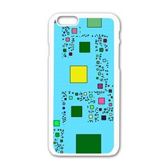 Squares On A Blue Background      Motorola Moto E Hardshell Case by LalyLauraFLM
