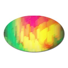 Pastel Shapes Painting            Magnet (oval) by LalyLauraFLM