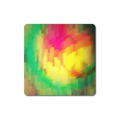 Pastel Shapes Painting            Magnet (square) by LalyLauraFLM