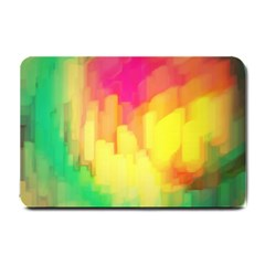 Pastel Shapes Painting            Small Doormat by LalyLauraFLM