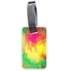 Pastel Shapes Painting            Luggage Tag (one Side) by LalyLauraFLM